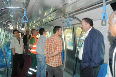 Metroda kullanılacak vagon