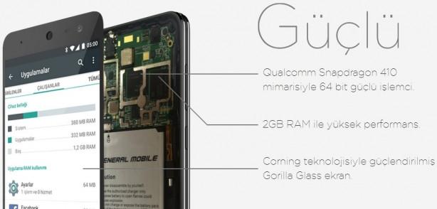 General Mobile Discovery 4G Android One özelikleri büyülüyor
