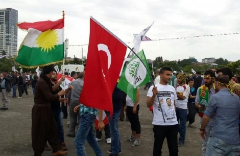 HDP'nin Kazlıçeşme mitingine damga vuran görüntü