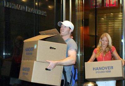 Çalışanlar Lehman Brothersı terkediyor