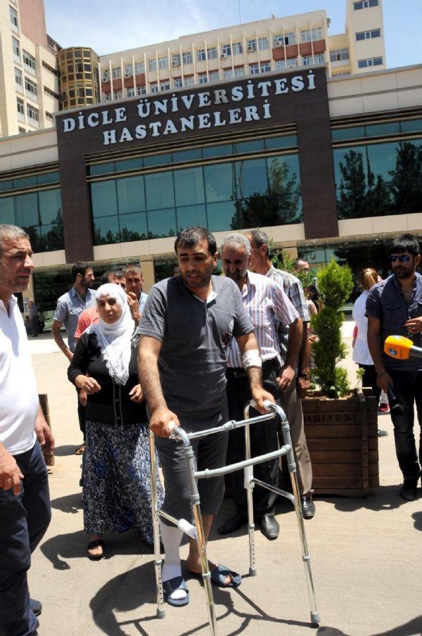 Diyarbakır'daki patlamada yaralananlar oy kullandı