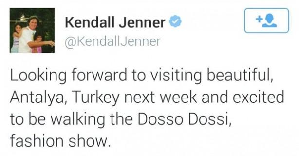 Kendall Jenner'ın Türkiye heyecanı !
