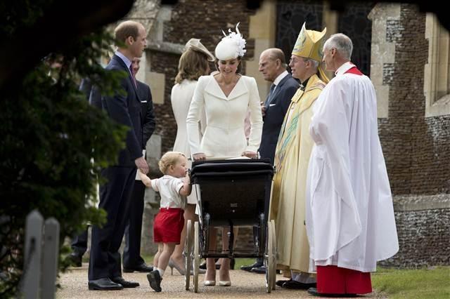 Prenses Charlotte Elizabeth Diana'nın vaftiz töreni