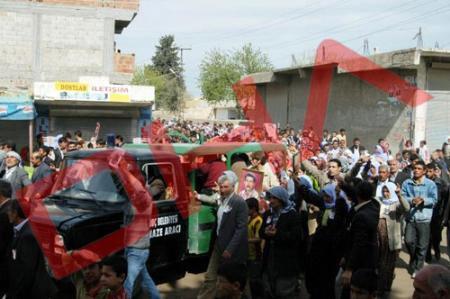Şanlıurfada PKKdan gövde gösterisi !