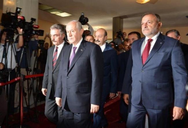 AK Parti heyeti, MHP'yi ziyaret etti