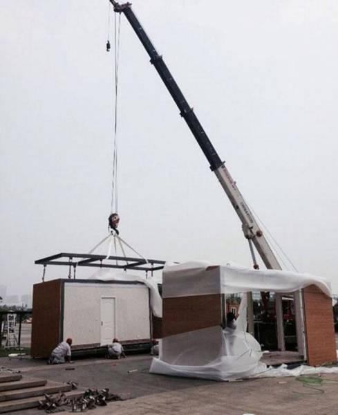 3 saatte ev inşa ettiler