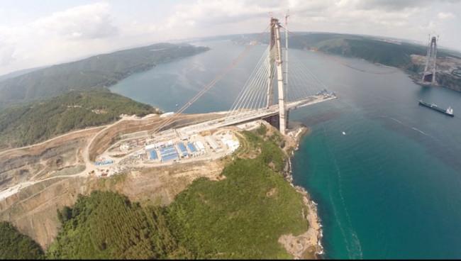 3. Boğaz köprüsünde sona yaklaşıldı