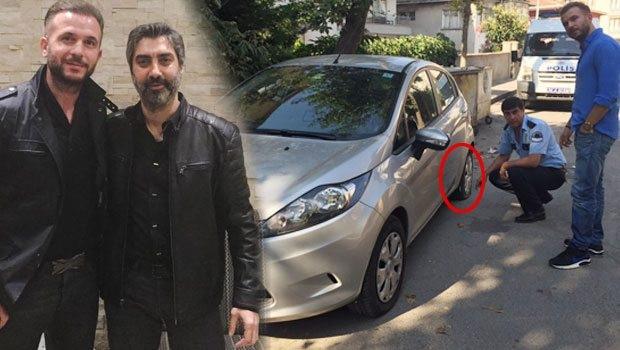 Polat hayranları Özgür Teke'nin arabasının lastiklerini patlattı