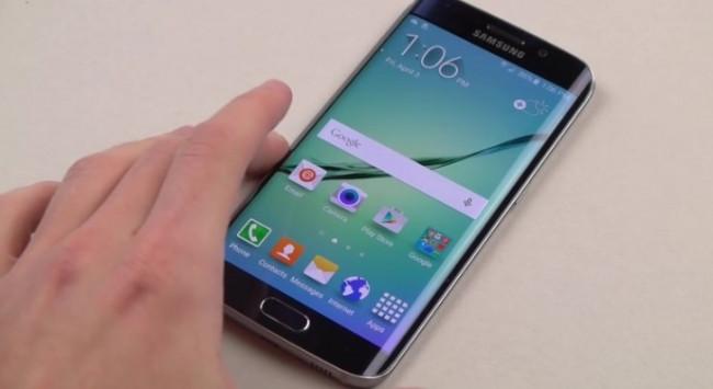 Galaxy S6 Edge bıçak ve çekiç testinde
