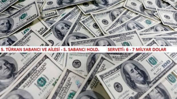 Türkiye'nin en zengin 100 kişi ve ailesi