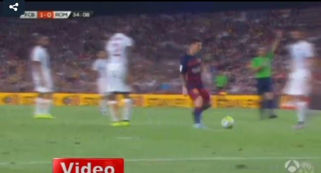 Messi kafa attı
