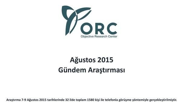 ORC'den gündem araştırması anketi