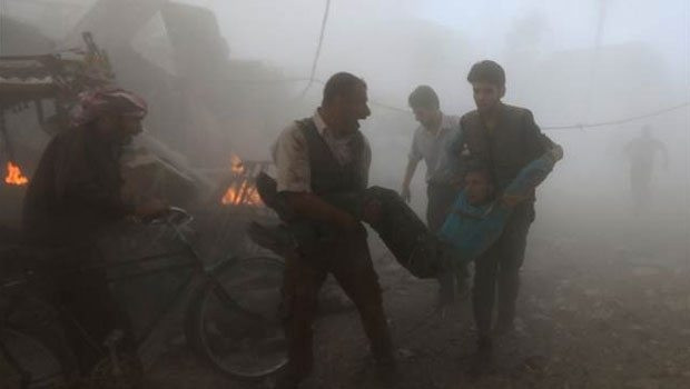 Suriye'de pazar yerine vakum bombası