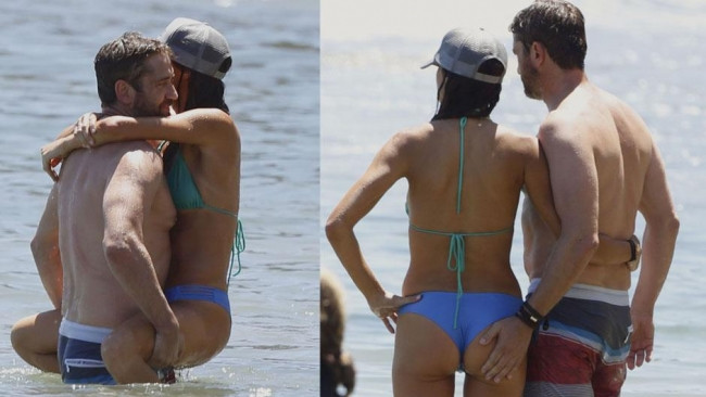 Gerard Butler sevgilisi Morgan Brown ile tatilde