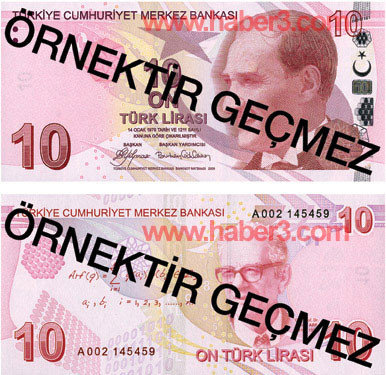 İşte yenilenen Türk Liraları