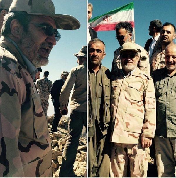 İran İçişleri Bakanı, asker kıyafeti ile kandil'e çıktı