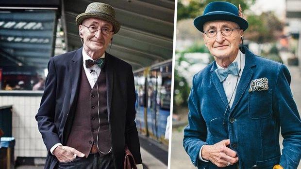 104 yaşında stil sahibi delikanlı