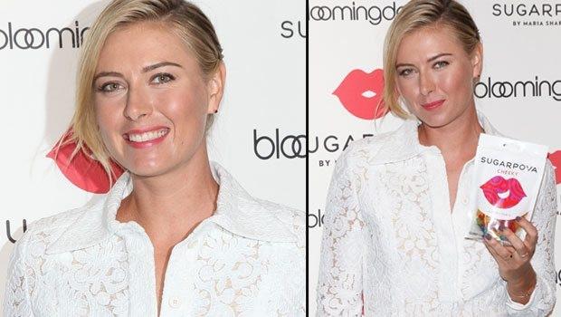 Maria Sharapova mağaza açılışında beyazlara büründü