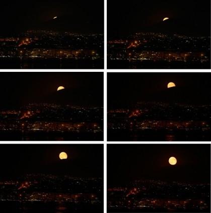 Süper ay görüntüleri büyüledi