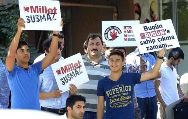 Koza İpek Holding'e destek eylemi düzenlendi
