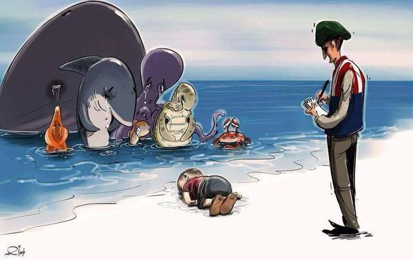 Dünyayı yasa boğan olay çizimlerle yankı buldu!