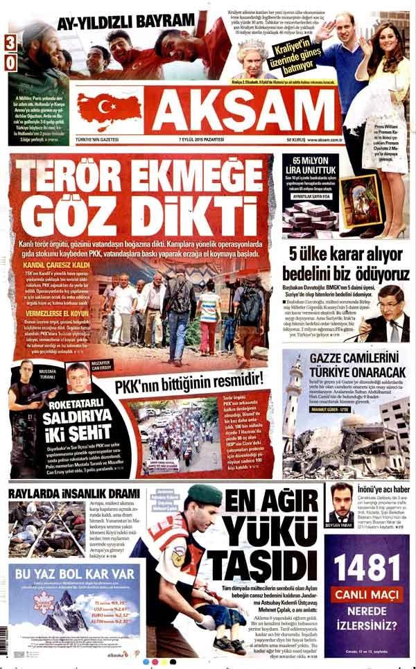 Dağlıca saldırısı gazete manşetlerinde