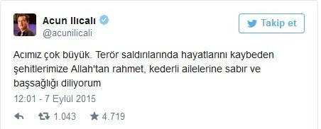 Şehit haberleri üzerine ünlülerin attığı tweetler