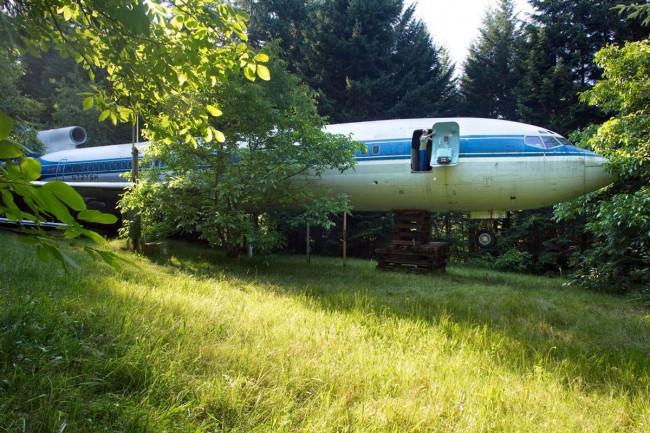 Boeing 727'den ev yaptı