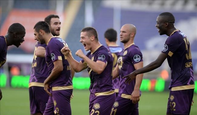 Osmanlıspor-Trabzonspor maçından kareler