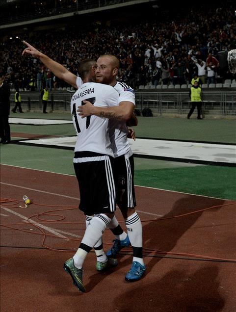 Beşiktaş-Sporting Lizbon maçından kareler