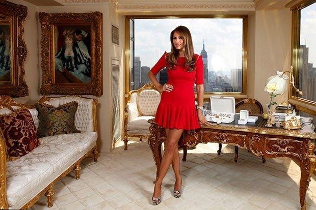Beyaz Saray'ın en seksi 'First Lady'si top model Melania