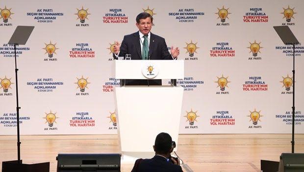 Başbakan Davutoğlu AK Parti'nin seçim vaatlerini açıklıyor