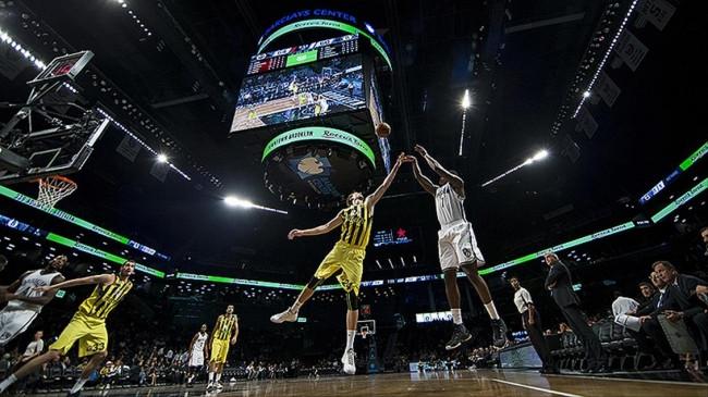 Brooklyn Nets-Fenerbahçe basketbol maçından kareler