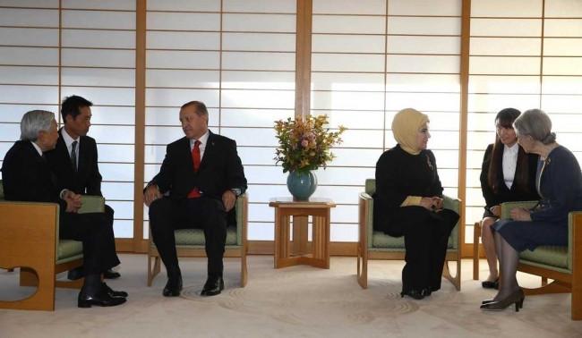 Cumhurbaşkanı Erdoğan Japon İmparatoru Akihito'yu ziyaret etti
