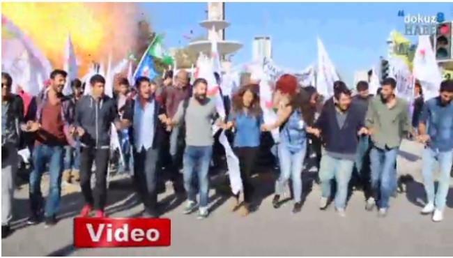 Ankara'da patlamanı anı