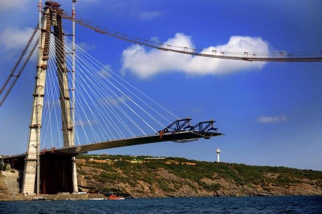 3. Köprü projesinde iki yakanın birleşmesine 585 metre kaldı