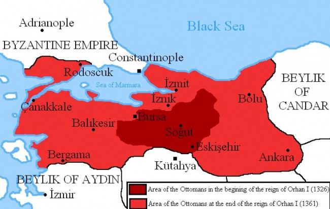 Osmanlı devleti toprakları böyleydi