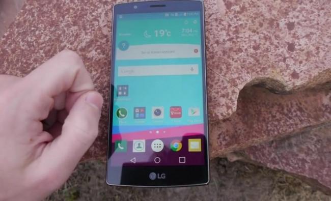 LG G4 düşme testinde