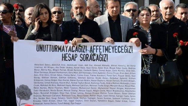 Ankara Garı önünde anma