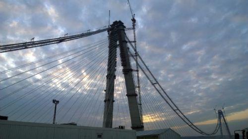 Yavuz Sultan Selim Köprüsü'nde iki yakanın birleşmesine 535 metre