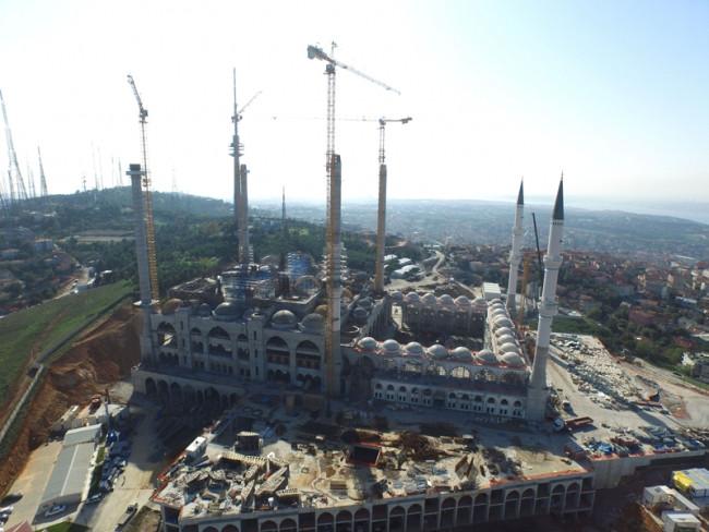 Çamlıca Camisi inşaatında son durum