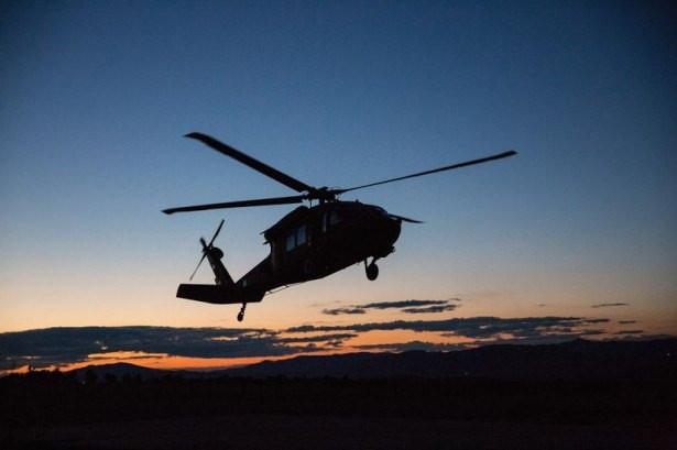 İki ilde oy pusulaları askeri helikopterle taşındı