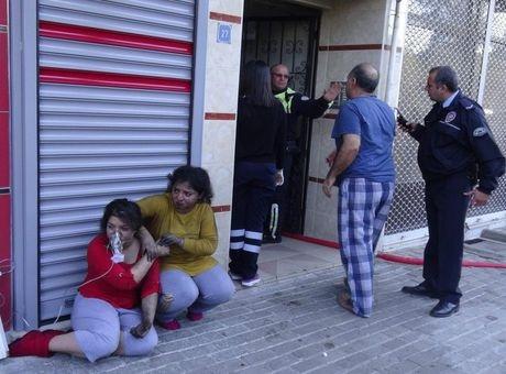 Aydın'da öğrenci evinde yangın