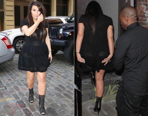 Kim Kardashian'ın en seksi transparan fotoğrafları