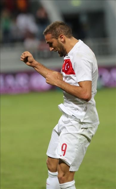Katar-Türkiye maçından kareler