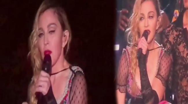 Madonna Paris'e ağladı