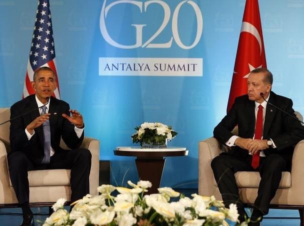 Obama Erdoğan görüşmesinden kareler