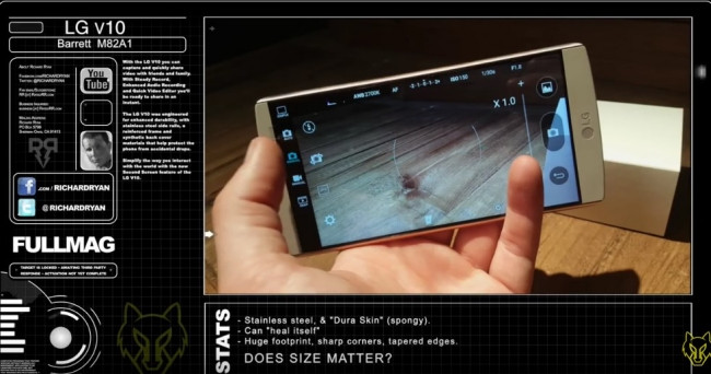 LG V10 ne kadar sağlam? 50 Kalibrelik mermi ile Kanas testi