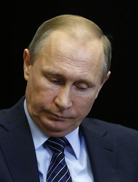 Uçağın düşürülmesi sonrası Putin'in dalgın hali