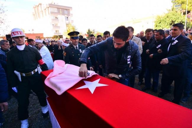 Osmaniyeli şehit astsubay toprağa verildi